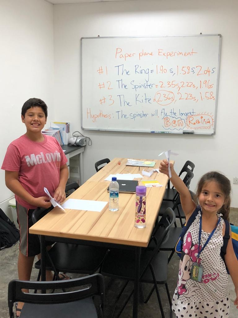 Aiden and Reina, our first homeschool kids in 2018